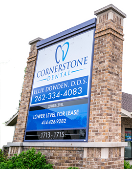 Cornerstone Dental Clinic Sign